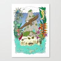 thailand Canvas Prints featuring Thailand by Matt Johnstone