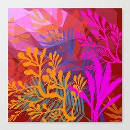 Jungle Jam Reds Canvas Print