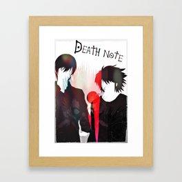 Death Note 2Ls Framed Art Print
