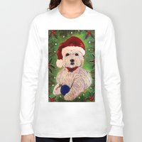 westie Long Sleeve T-shirts featuring A Very Westie Christmas by Heidi Clifton