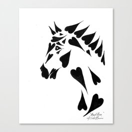 Heart Horse Canvas Print