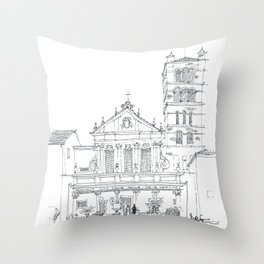 Basilica di Santa Cecilia in Trastevere Throw Pillow