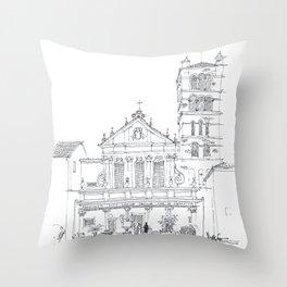 Basilica di Santa Cecilia in Trastevere Throw Pillow