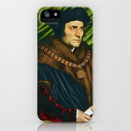 Sir Thomas More by Hans Holbein (1527) iPhone Case