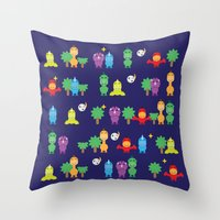 dinosaurs Throw Pillows featuring Dinosaurs! by ShannonHatchNZ