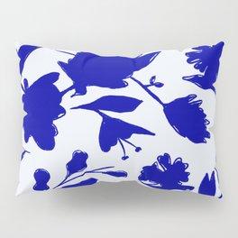 Floral Blue Shadow Pillow Sham