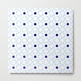 Antic pattern 9- from LBK blue Metal Print