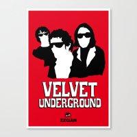 velvet underground Canvas Prints featuring VELVET UNDERGROUND R by zzglam