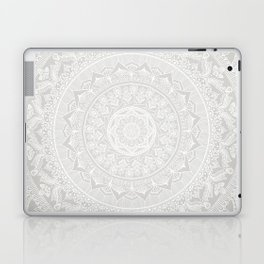 Mandala Soft Gray Laptop & iPad Skin