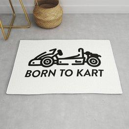 Born To Kart Rug