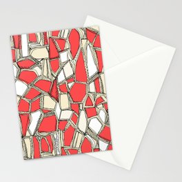 BROKEN POP coral Stationery Cards