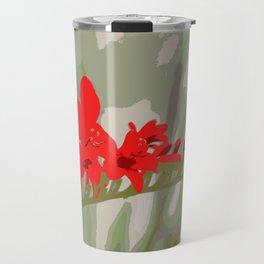 Better Off Red Big and Bold Art Print Pop Art Flower Travel Mug