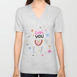 Love you lama Unisex V-Neck
