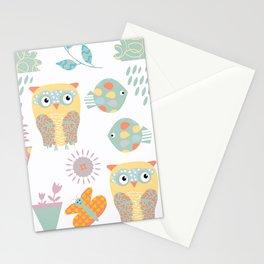 Owls 3b Stationery Cards