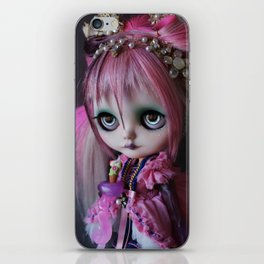LITTLE OCTOPUS CUSTOM BLYTHE ART DOLL PINK NAVY iPhone Skin