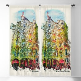 Casa Batllo Barcelona Blackout Curtain