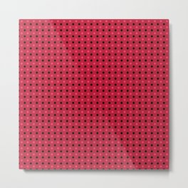 Red black polka dots on a red background Metal Print