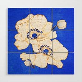 Ultramarine Blue :: Anemones Wood Wall Art