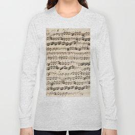 Johann Sebastian Bach (1685 – 1750) original music sheet Long Sleeve T-shirt