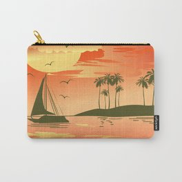 Tropical Sunset over the Sea Carry-All Pouch