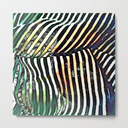 Wrinkled stripes Metal Print
