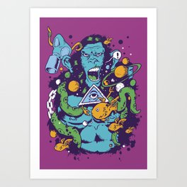Triangle Ape Art Print