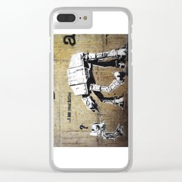 Banksy, I am your father Clear iPhone Case