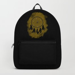 Dreamcatcher crow: Sand background Backpack