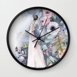 Ballerina and flowers n.3 Wall Clock
