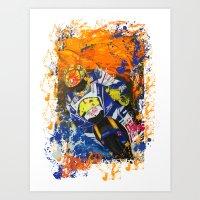 moto Art Prints featuring Moto Splash by Echo9Studio