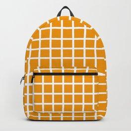 Grid (White & Classic Orange Pattern) Backpack