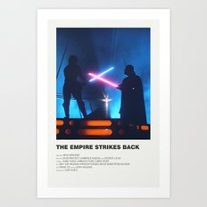 Empire Strikes Back Art Print