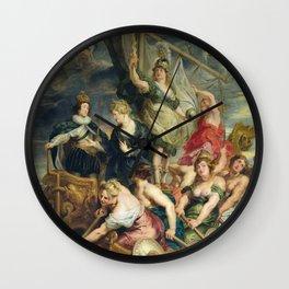 Peter Paul Rubens - The Majority Of Louis Xiii. Wall Clock