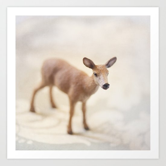 Doe Eyed  Art Print