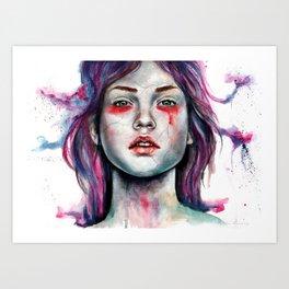 Hair Like Flowers  Art Print