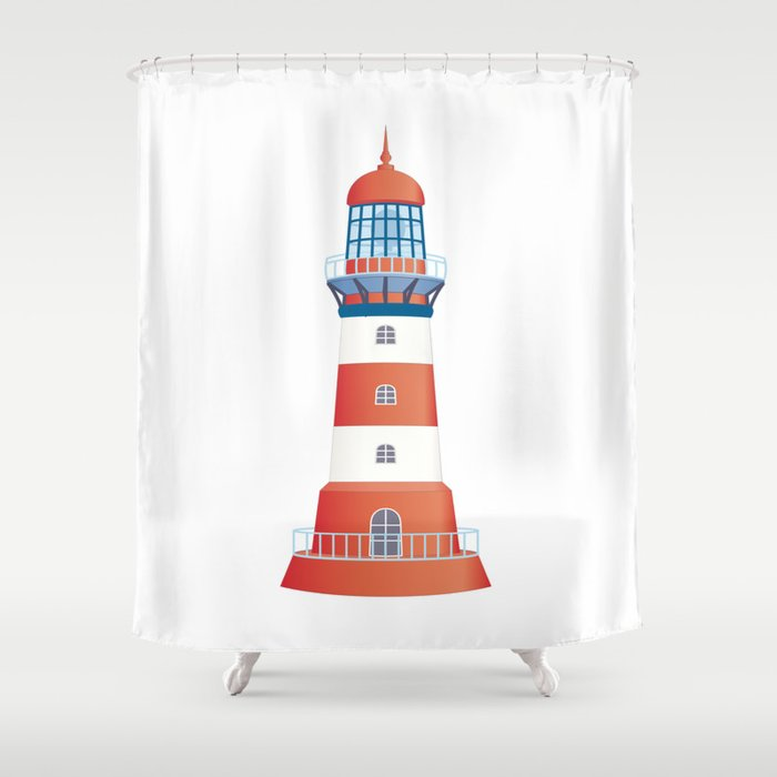 Nautical Lighthouse Shower Curtain