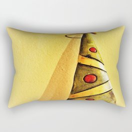 minimal Christmas tree ornament Rectangular Pillow