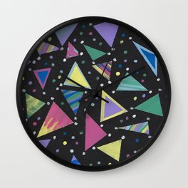 Triangle Abstract Design. Wall Clock