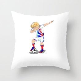 USA Soccer Player Dab Throw Pillow