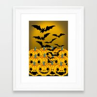 halloween Framed Art Prints featuring halloween by mark ashkenazi