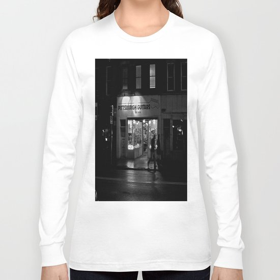 Walking By Guitars Long Sleeve T-shirt