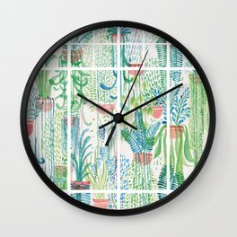 Winter in Glasshouses II Wall Clock