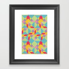 Colorful Tangram Pattern Framed Art Print