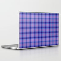 preppy Laptop & iPad Skins featuring Purple Plaid Preppy by michaelrosen