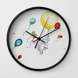 Up, Up, and Away Wall Clock