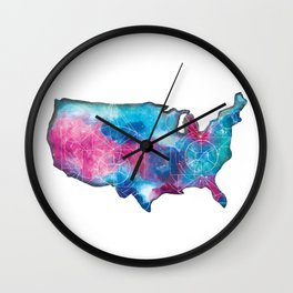 United States Space Map Wall Clock