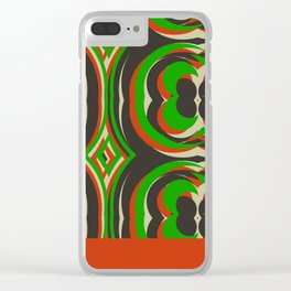 '70s TAPESTRY Clear iPhone Case