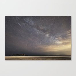Shooting stars and the Milkyway Canvas Print