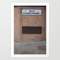 liverpool old churchyard Art Print