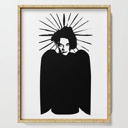 Robert Smith icon saint art Serving Tray